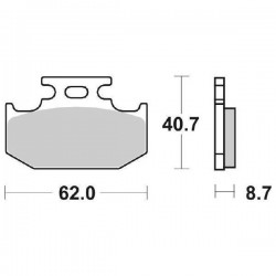 BRAKE PAD SET SBS 632 HF...