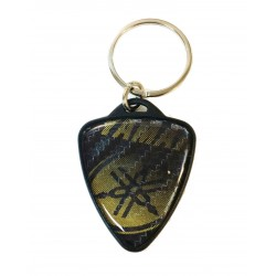 GLITTER keychain in gold...