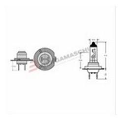 LAMP GE H7 +50 BLU 12V 55W...