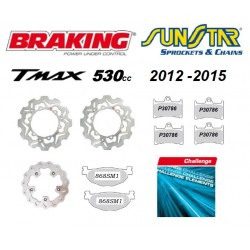 KIT DISC BRAKES FRONT AND...