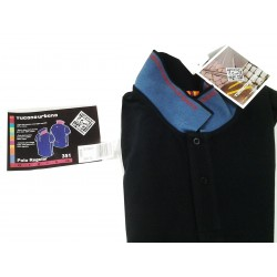 TUCANO POLO BLUE BLACK SIZE XL