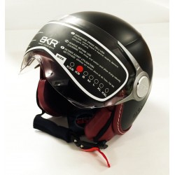 HELMET JET BKR TWO MATT BLACK