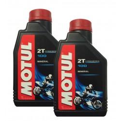 2 Liters Motul 100 2T...