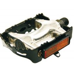 Aluminum/steel MTB pedal pair