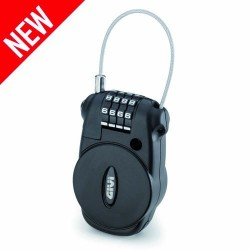 Retractable cable lock with...