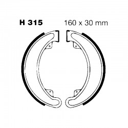 Brake shoes H315 HONDA CB...