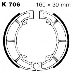 Brake shoes K706 KAWASAKI...