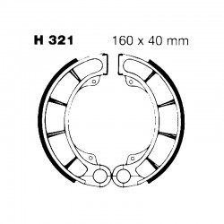 Brake shoes H321 HONDA VF750