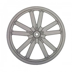 Rear Alloy Wheel Circle WR107S
