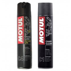 Kit clean lubricates chain...