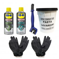 Kit Clean Chain, WD-40 +...