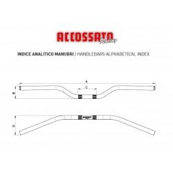 Accossato Manubrio Superbike Alluminio HB152 piega alta* ORO