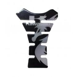 Tank Pad Kawasaki Black Silver