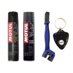 Kit clean lubricates chain...